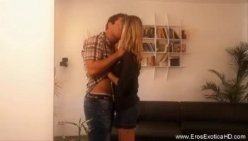 Sexy chick is relishing dudes rod with wet blowjob