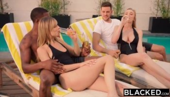 Black chick enjoys being banged by strong rod